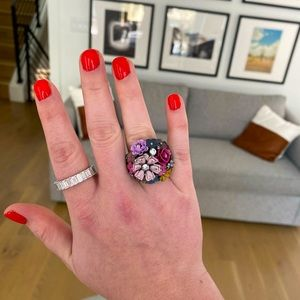 Juicy Couture Floral Cocktail Ring